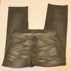 Men's 7 for All Mankind Gray Jeans Sz 34